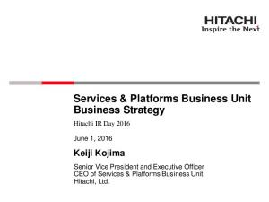Services & Platforms Business Unit Business Strategy