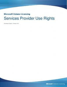 Services Provider Use Rights