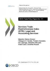 Services Trade Restrictiveness Index (STRI): Legal and Accounting Services