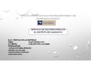 SERVICIO DE DECORACIONES EN EL DISTRITO DE HUANCAYO