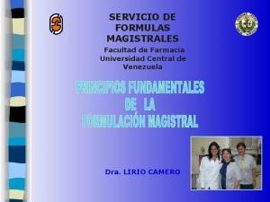 SERVICIO DE FORMULAS MAGISTRALES