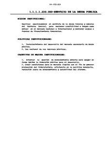 SERVICIO DE LA DEUDA PUBLICA