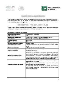 SERVICIO PROFESIONAL AGRARIO DE CARRERA