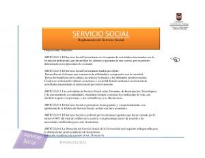 SERVICIO SOCIAL. Reglamento del Servicio Social