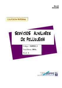 SerVicIOS AuxILiaRes De PeLUquErIA