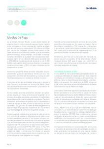 Servicios Bancarios. Medios de Pago