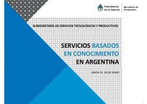 SERVICIOS BASADOS EN CONOCIMIENTO EN ARGENTINA