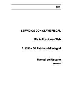 SERVICIOS CON CLAVE FISCAL