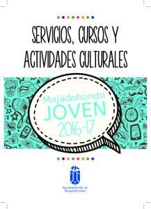 servicios, cursos y actividades culturales