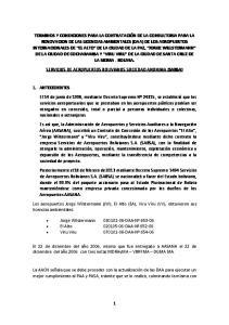 SERVICIOS DE AEROPUERTOS BOLIVIANOS SOCIEDAD ANONIMA (SABSA)