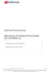 SERVICIOS DE DEMOSTRACIONES DE CATERING SL
