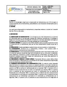 SERVICIOS FARMACEUTICOS PROCEDIMIENTO DISPENSACION DE MEDICAMENTOS Y DISPOSITIVOS MEDICOS