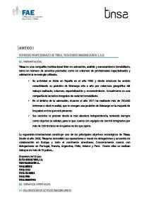 SERVICIOS PROFESIONALES DE TINSA, TASACIONES INMOBILIARIAS S.A.U
