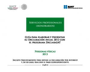 Servicios profesionales (honorarios)