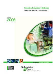 Servicios, Proyectos y Sistemas Servicios del Parque Instalado