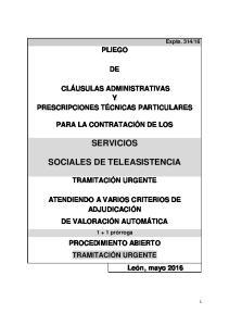 SERVICIOS SOCIALES DE TELEASISTENCIA