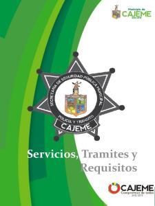 Servicios, Tramites y Requisitos
