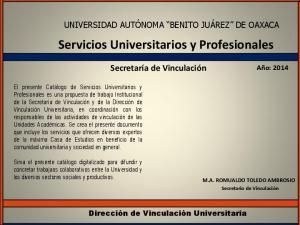 Servicios Universitarios y Profesionales