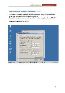 SERVIDOR DHCP WINDOWS SERVER 2003 P1,P2