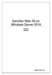 Servidor Web IIS en Windows Server 2016