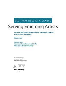 Serving Emerging Artists