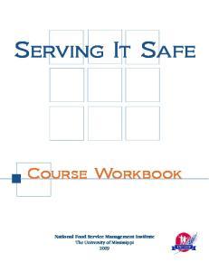 Serving It Safe. Course Workbook
