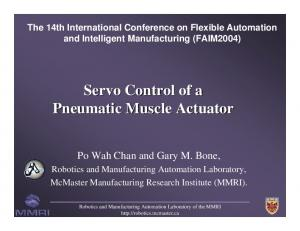Servo Control of a Pneumatic Muscle Actuator