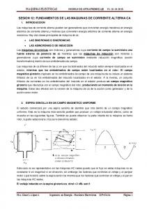 SESION 12: FUNDAMENTOS DE LAS MAQUINAS DE CORRIENTE ALTERNA CA