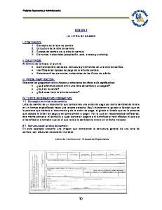 SESION 7 LA LETRA DE CAMBIO