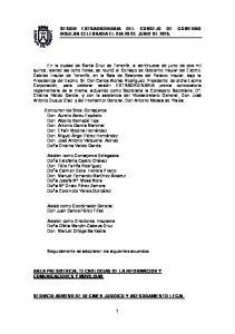 SESION EXTRAORDINARIA DEL CONSEJO DE GOBIERNO INSULAR CELEBRADA EL DIA 29 DE JUNIO DE 2015