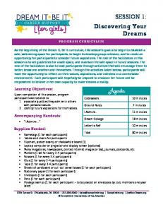 SESSION 1: Discovering Your Dreams