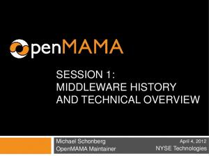 SESSION 1: MIDDLEWARE HISTORY AND TECHNICAL OVERVIEW