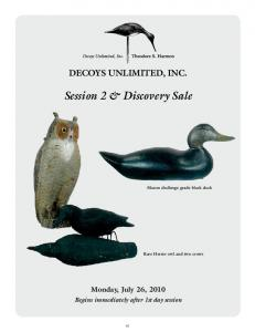 Session 2 & Discovery Sale