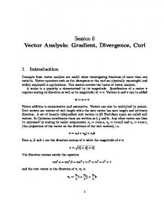Session 6 Vector Analysis: Gradient, Divergence, Curl