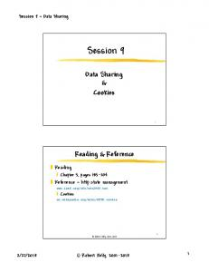 Session 9. Data Sharing & Cookies. Reading & Reference. Reading. Reference http state management. Session 9 Data Sharing