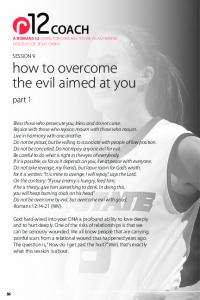 SESSION 9 how to overcome the evil aimed at you