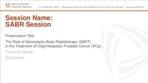 Session Name: SABR Session