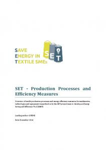 SET - Production Processes and Efficiency Measures