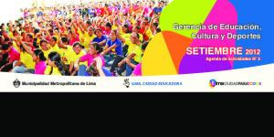 SETIEMBRE 2012 Agenda de Actividades N 2