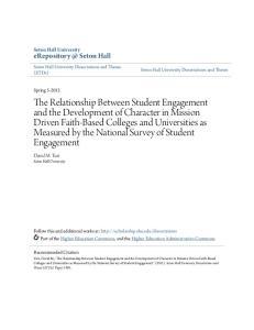 Seton Hall Seton Hall University David M. Turi Seton Hall University Seton Hall University Dissertations and Theses (ETDs)