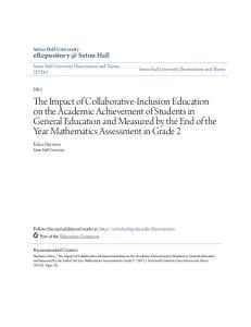 Seton Hall Seton Hall University Felice Harrison Seton Hall University Seton Hall University Dissertations and Theses (ETDs)