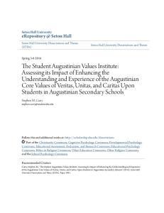Seton Hall Seton Hall University Stephen M. Curry Seton Hall University Dissertations and Theses (ETDs)