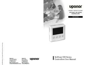 SetPoint 500 Series Controllers User Manual