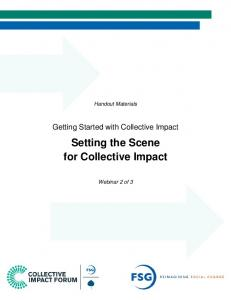 Setting the Scene for Collective Impact