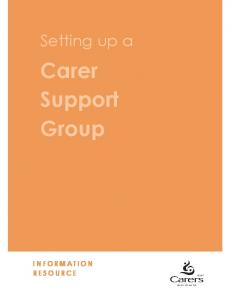 Setting up a. Carer Support Group