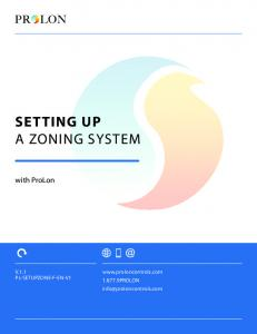 SETTING UP A ZONING SYSTEM