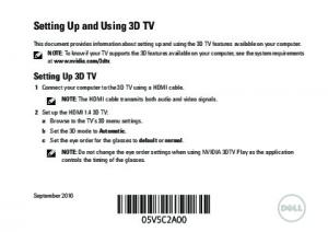 Setting Up and Using 3D TV
