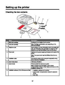 Setting up the printer