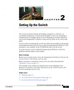 Setting Up the Switch