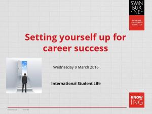 Setting yourself up for career success